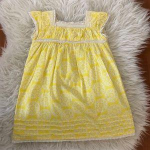 Mini Boden Cotton Yellow Floral Dress 💛